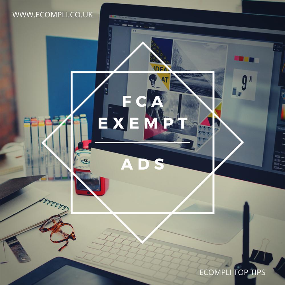 FCA Exempt Ads