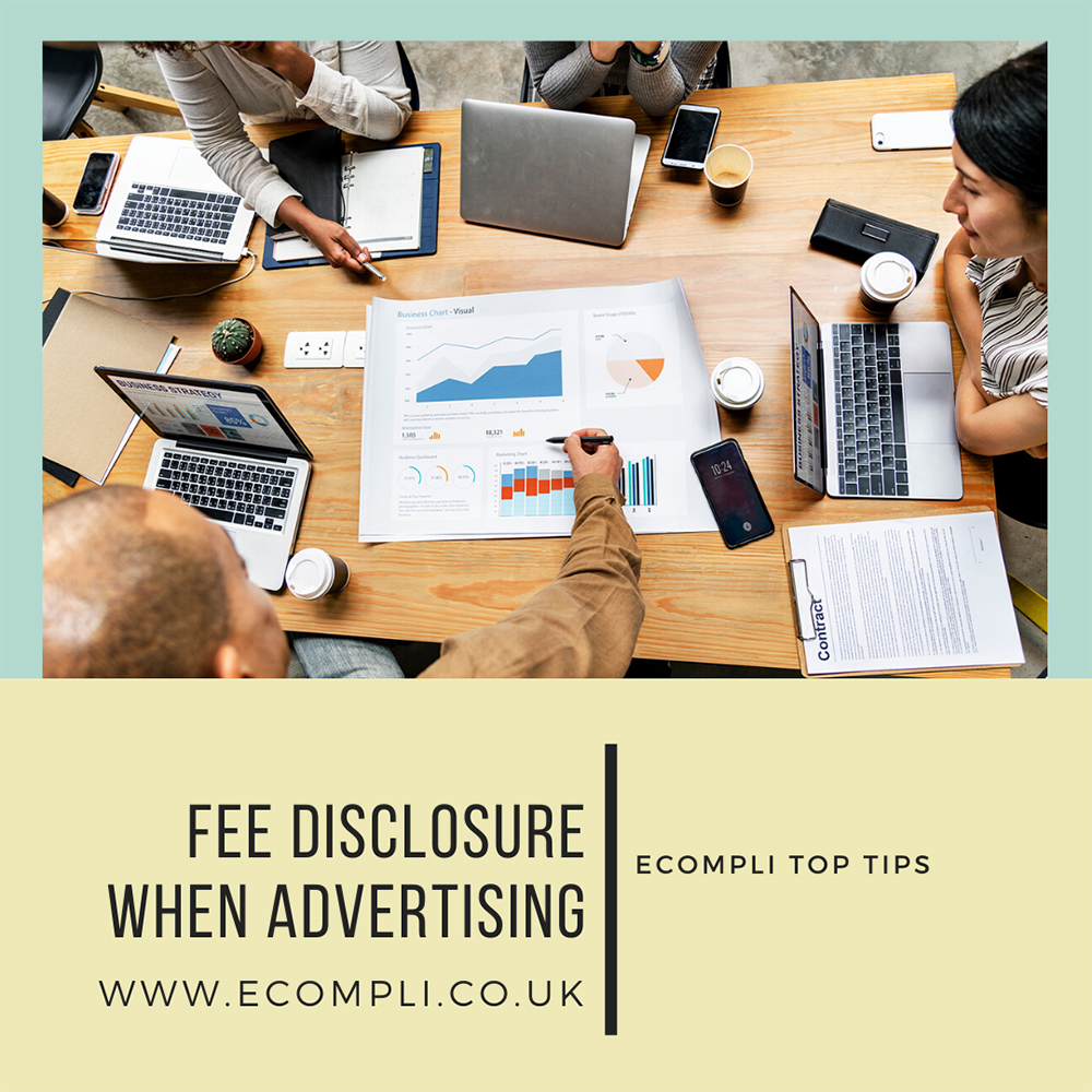 FCA Fee Disclosure when Advertising