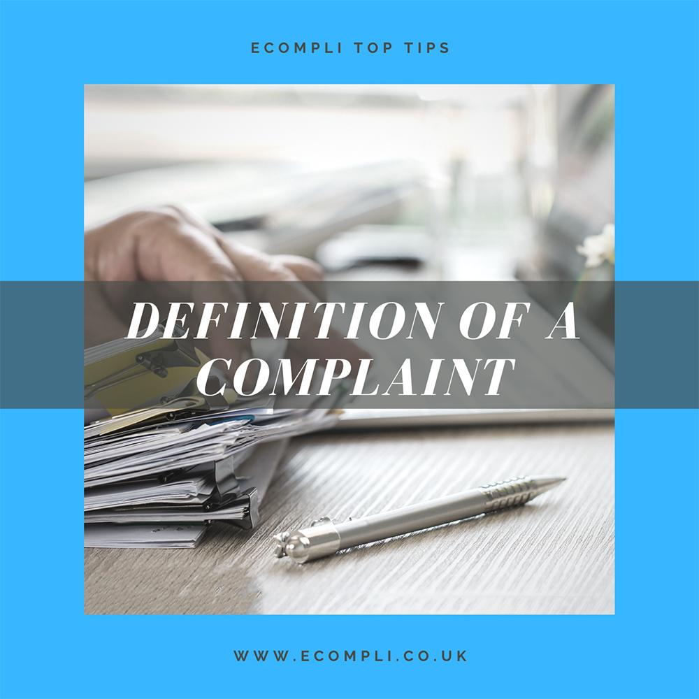 FCA Definition of a Complaint