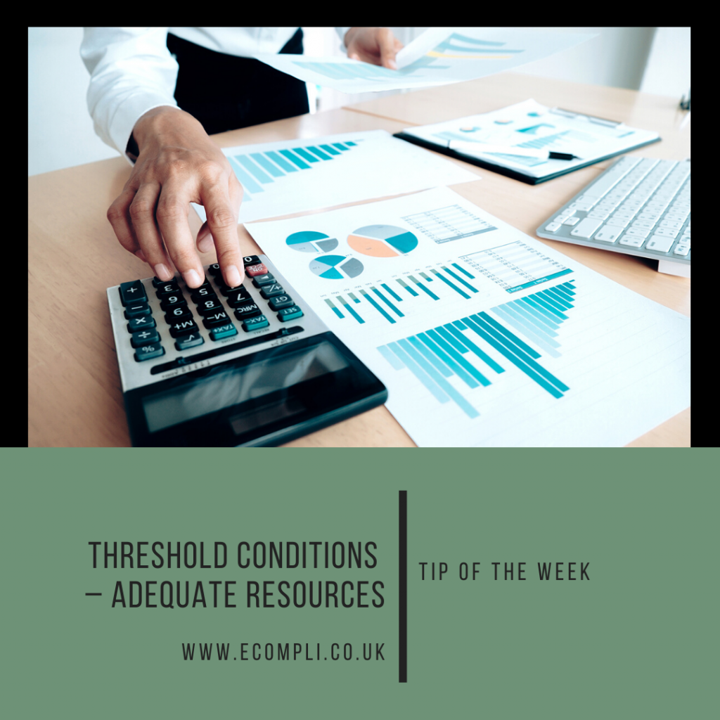 Ecompli - FCA Threshold Conditions and Adequate Resources