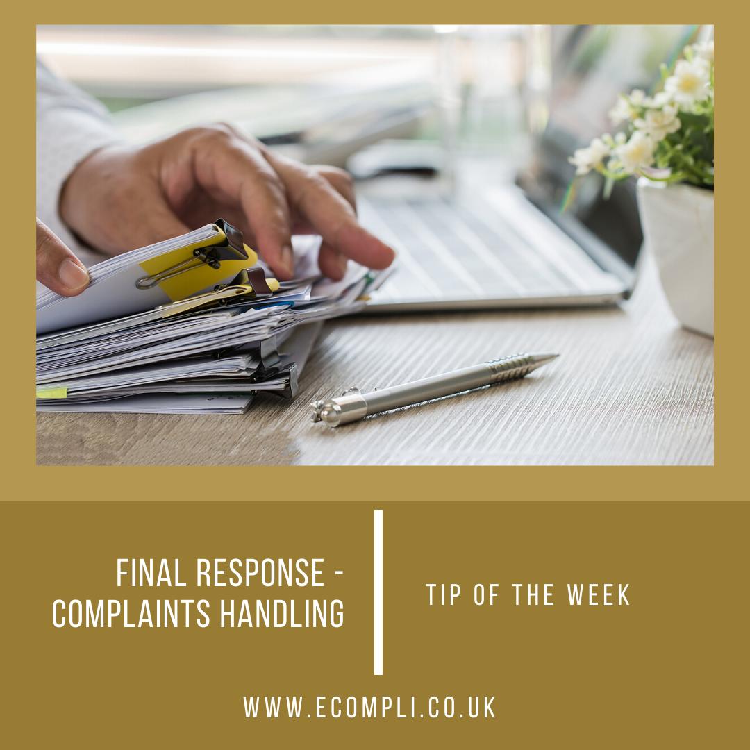 Ecompli - FCA Final Response Complaints Handling